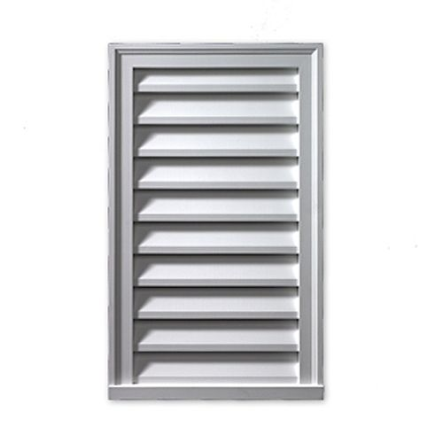 18-inch x 42-inch x 2-inch Polyurethane Functional Vertical Louver Gable Grill Vent