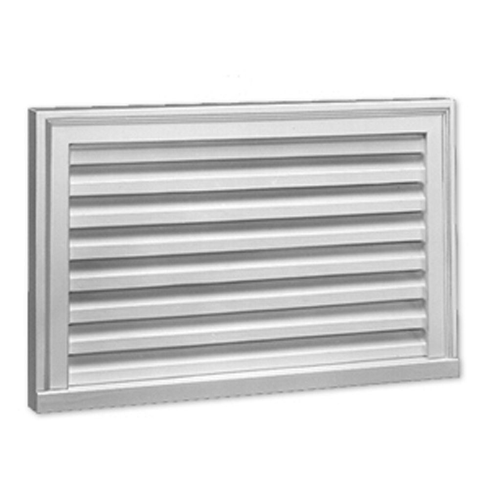 Fypon 27-inch x 17-inch x 2-inch Polyurethane Functional Vertical Louver Gable Grill Vent