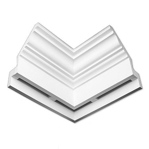 9 1/32-inch x 21 31/32-inch x 14 3/4-inch E-Vent Inside Corner Dentil Smooth