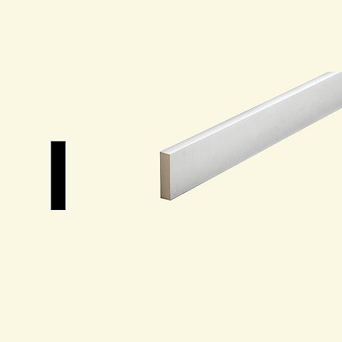 1-inch x 3 1/2-inch x 96-inch Primed Polyurethane Window or Door Flat Trim