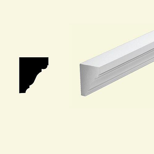 3 1/4-inch x 4-inch x 96-inch Primed Polyurethane Cornice Moulding