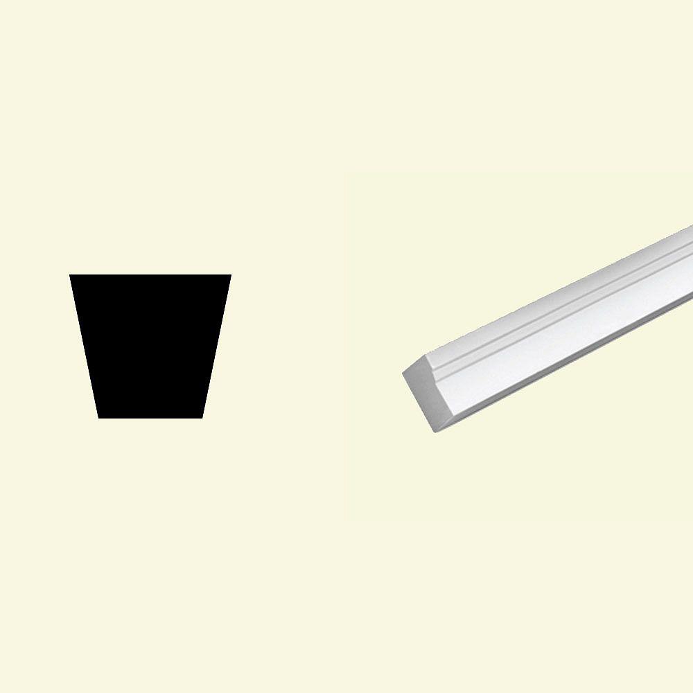 Fypon Moulure de cadrage en polyuréthane apprêté 1-1/4 po x 2 po x 96 po