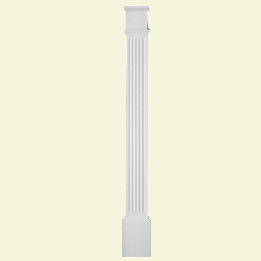 Fypon 1 5/8-inch x 8-inch x 90-inch Primed Polyurethane Fluted Pilaster with Moulded Plinth