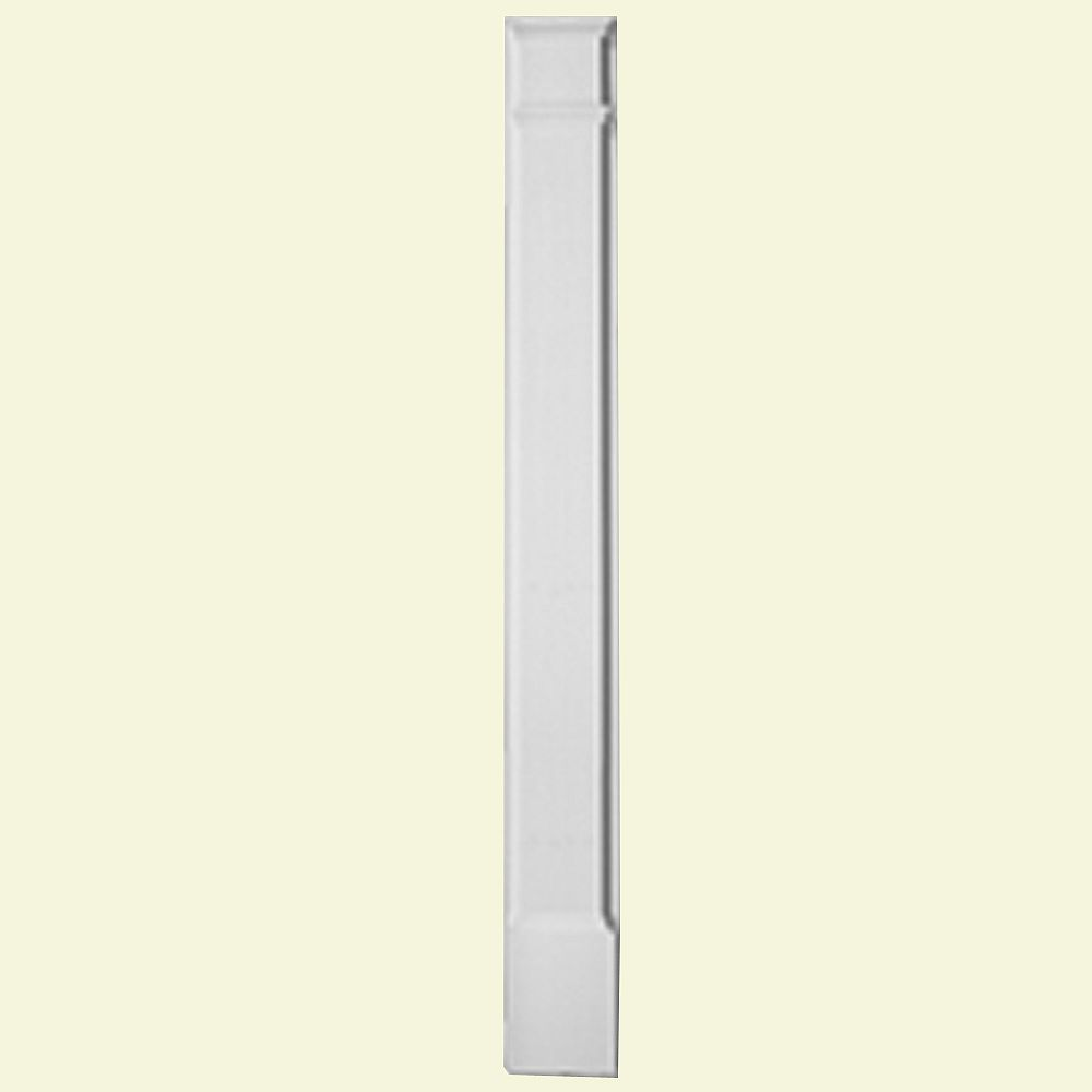 Fypon 1 5/8-inch x 6 1/4-inch x 90-inch Primed Polyurethane Pilaster Plain with Molded Plinth