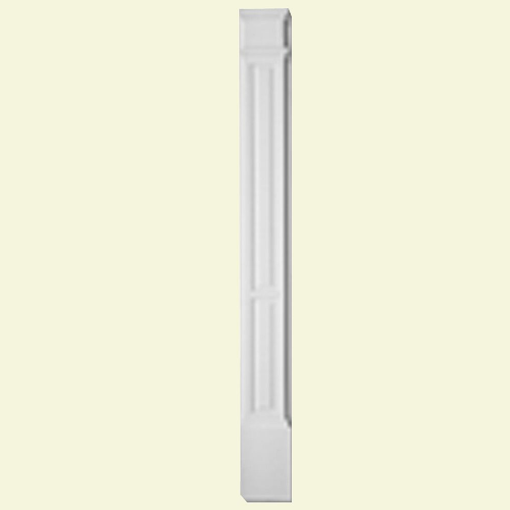Fypon 3-inch x 9-inch x 90-inch Primed Polyurethane Double Panel Pilaster with Moulded Plinth