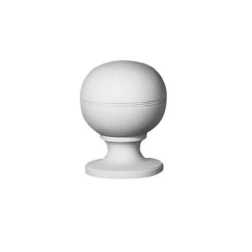Faîteau de style boule en polyuréthane apprêté 8-17/32 po x 6-1/2 x 6-7/32