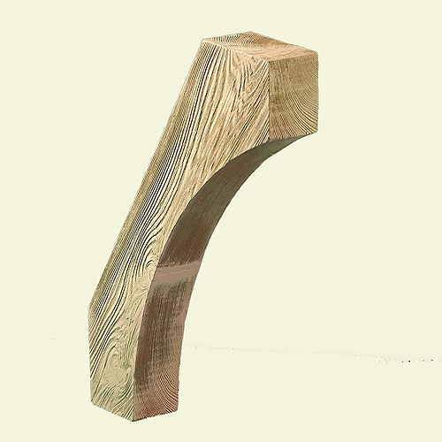 12-inch x 24-inch x 3 3/8-inch Unfinished Wood Grain Texture Polyurethane Bracket