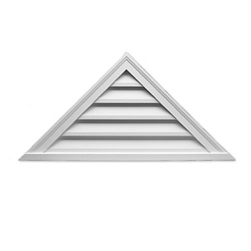48-inch x 24-inch x 2-inch Polyurethane Functional Triangle Louver Gable Grill Vent