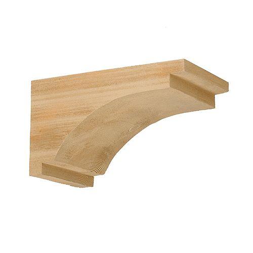 7-1/4 Inch x 13 Inch x 7-1/2 Inch Unfinished Wood Grain Texture Polyurethane Bracket