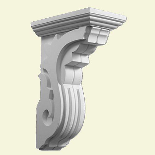 9-11/16 Inch x 3-3/4 Inch x 14-1/2 Inch Primed Polyurethane Corbel