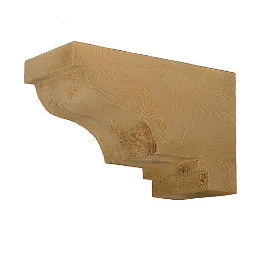 Corbeau à texture de grain de bois 16 po x 10-1/2 po x 8 po