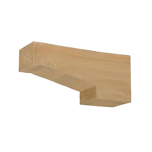 Corbeau en polyuréthane à texture de grain de bois non fini 16 po x 7-1/4 po x 3-1/4 po