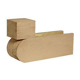 Corbeau en polyuréthane à texture de grain de bois non fini 21 po x 12 po x 6 po - ABANDONNÉ