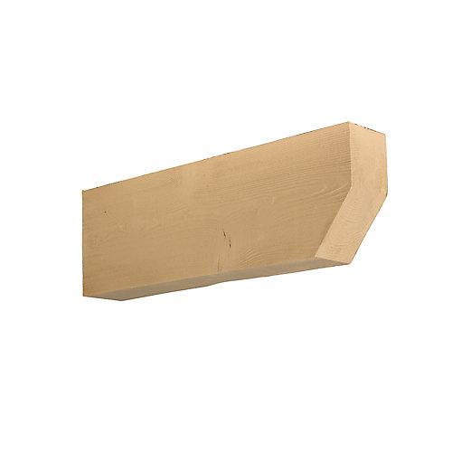 Corbeau en polyuréthane à texture de grain de bois non fini 24 po x 16 po x 4 po