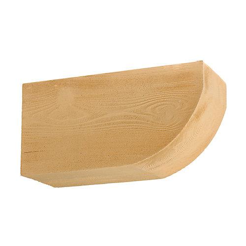 Corbeau en composite à texture de grain de bois non fini 6 po x 7-1/4 po x 14-1/2 po