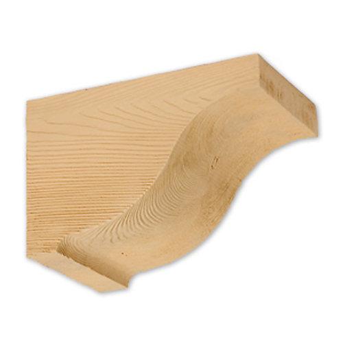 Corbeau en polyuréthane à texture de grain de bois non fini 7-3/8 po x 7 po x 11-3/8 po