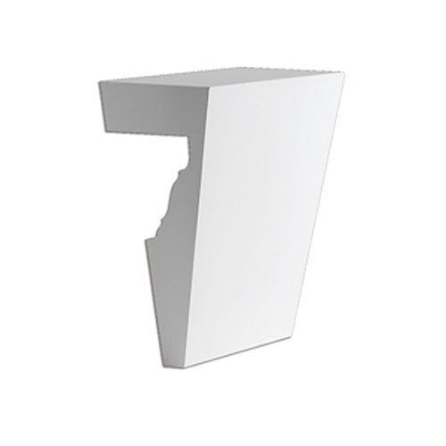 5-3/4 Inch x 7 Inch Polyurethane Recessed Panel Keystone Fits 6 Inch and 7 Inch Window and Door Crossheads
