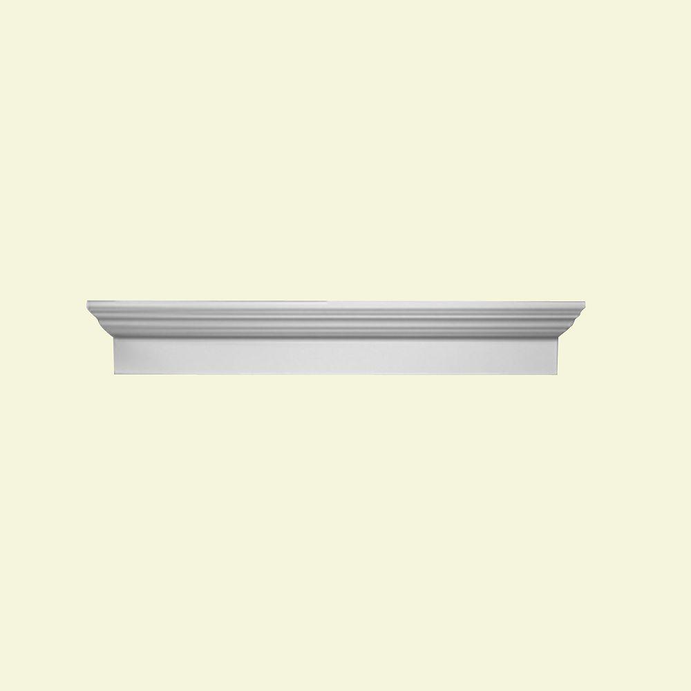 Fypon Linteau de porte/fenêtre en polyuréthane 60-1/2 po x 6 po