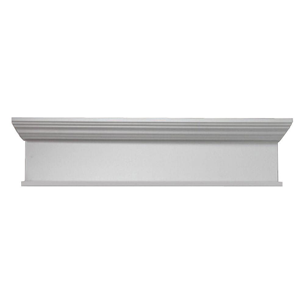 Fypon 56 Inch x 10 Inch x 4-1/2 Inch Crosshead with Smooth Trim Bottom