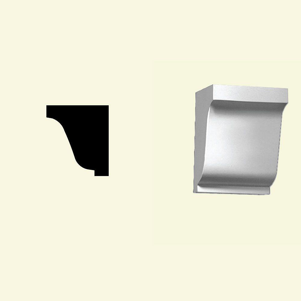 Fypon Bloc dentelé en polyuréthane apprêté 6-1/4 po x 4-11/16 po x 5-1/2 po