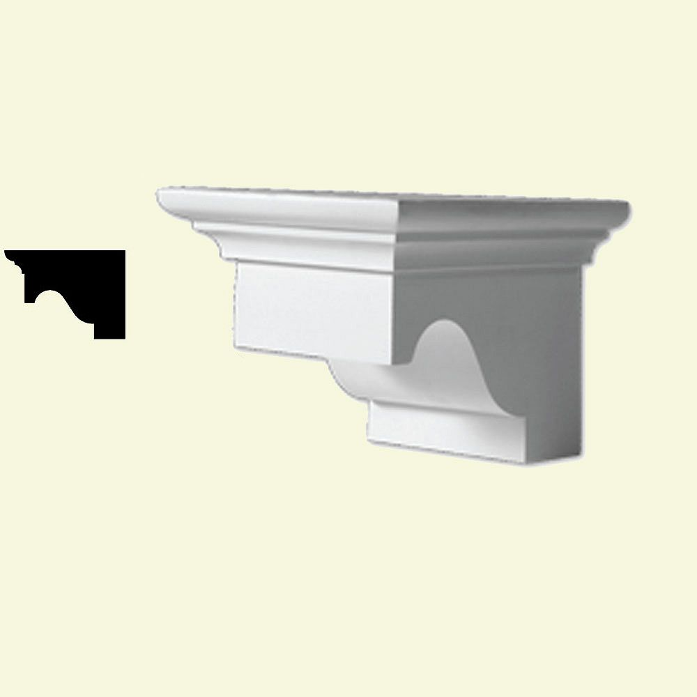 Fypon Bloc dentelé en polyuréthane apprêté 5-3/4 po x 5-1/2 po x 9-3/8 po