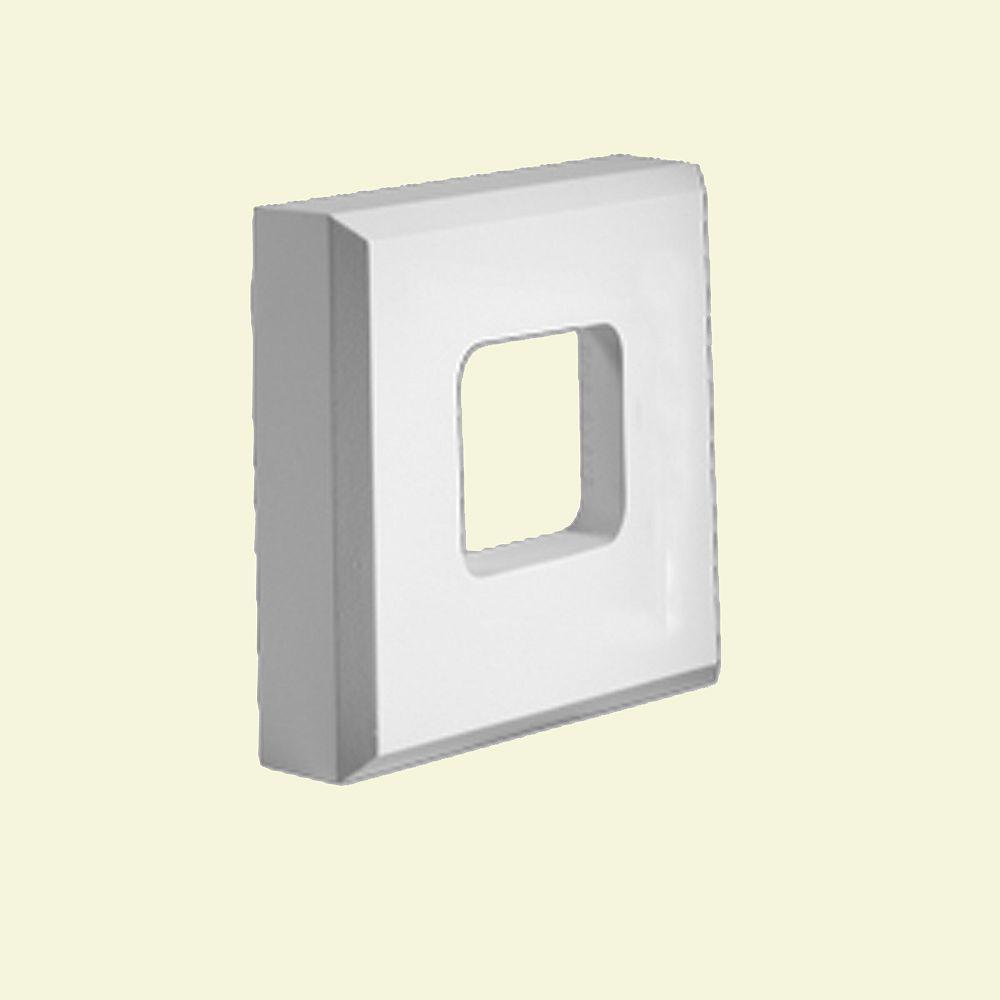 Fypon 8-inch x 8-inch x 2-inch Primed Polyurethane Fixture Mount