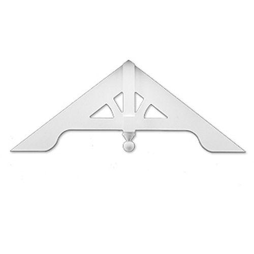 60-inch x 24-inch x 3 3/16-inch Primed Polyurethane Gable Pediment Arched
