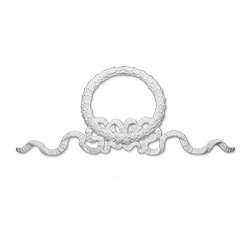 86-inch x 38-inch x 2 3/4-inch Primed Polyurethane Wreath and Bow Victorian Style Moulding