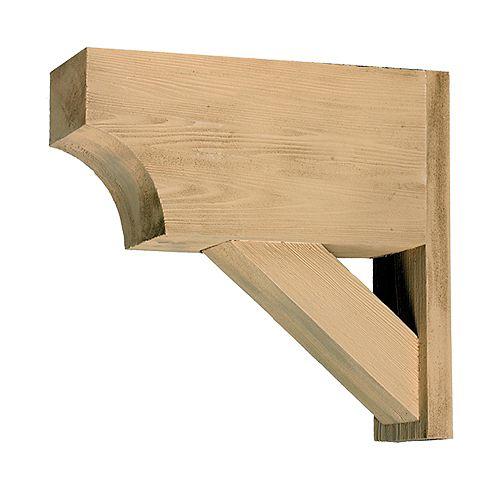 21 1/2-inch x 20-inch x 5 1/2-inch Unfinished Wood Grain Texture Polyurethane Bracket