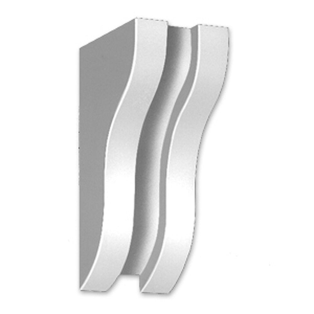 Fypon Console en polyuréthane apprêté 3 po x 5-1/8 po x 2-1/4 po