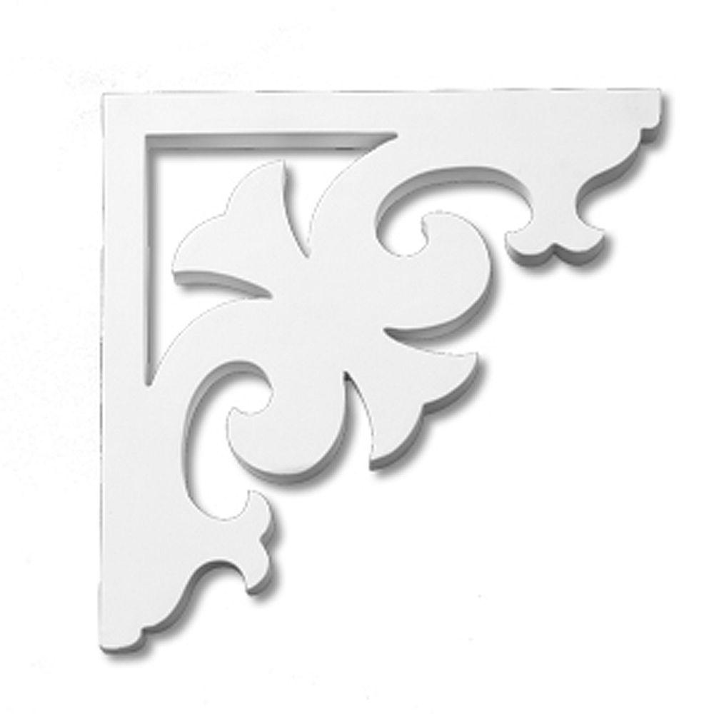 Fypon 12 7/8-inch x 12 7/8-inch x 1-inch Primed Polyurethane Bracket Moulding