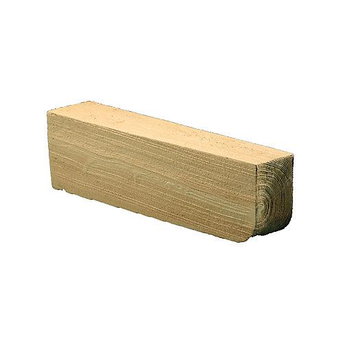 Corbeau en composite à texture de grain de bois non fini 5-1/4 po x 5-1/4 po x 24 po