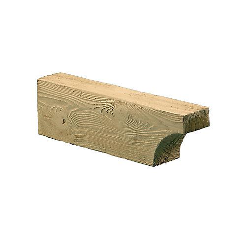 Corbeau en composite à texture de grain de bois non fini 5-1/4 po x 5-1/4 po x 18 po