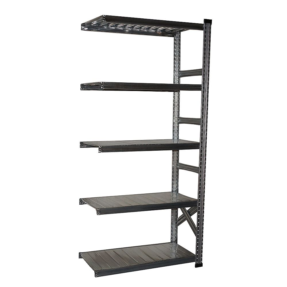 Super 123 Metalsistem Add-On Unit 78 Inch Height x 36 Inch Width x 16 Inch Depth With 5 Metal Shelf Levels
