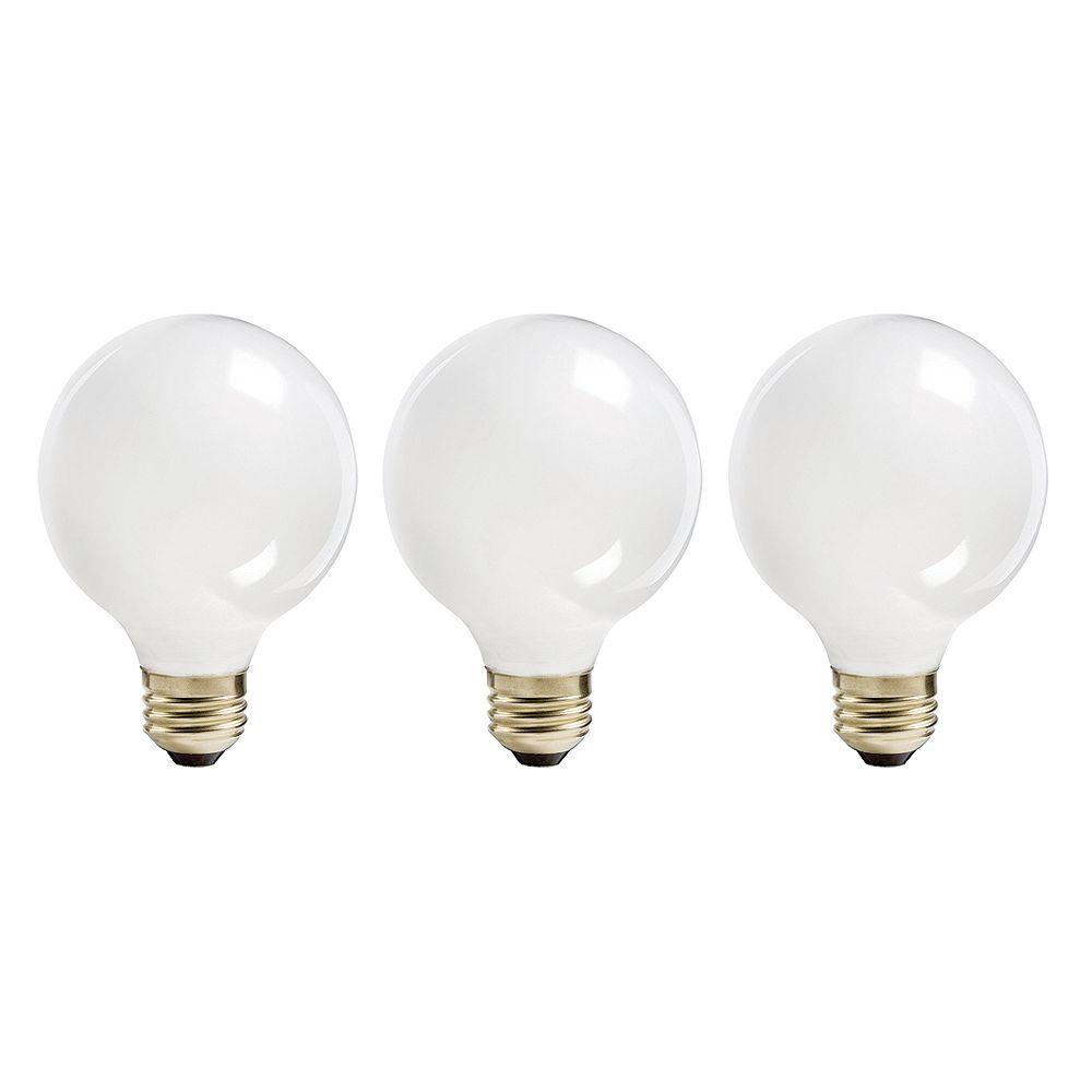 Philips 60W Halogen Globe (G25) White Light Bulb (3-Pack)