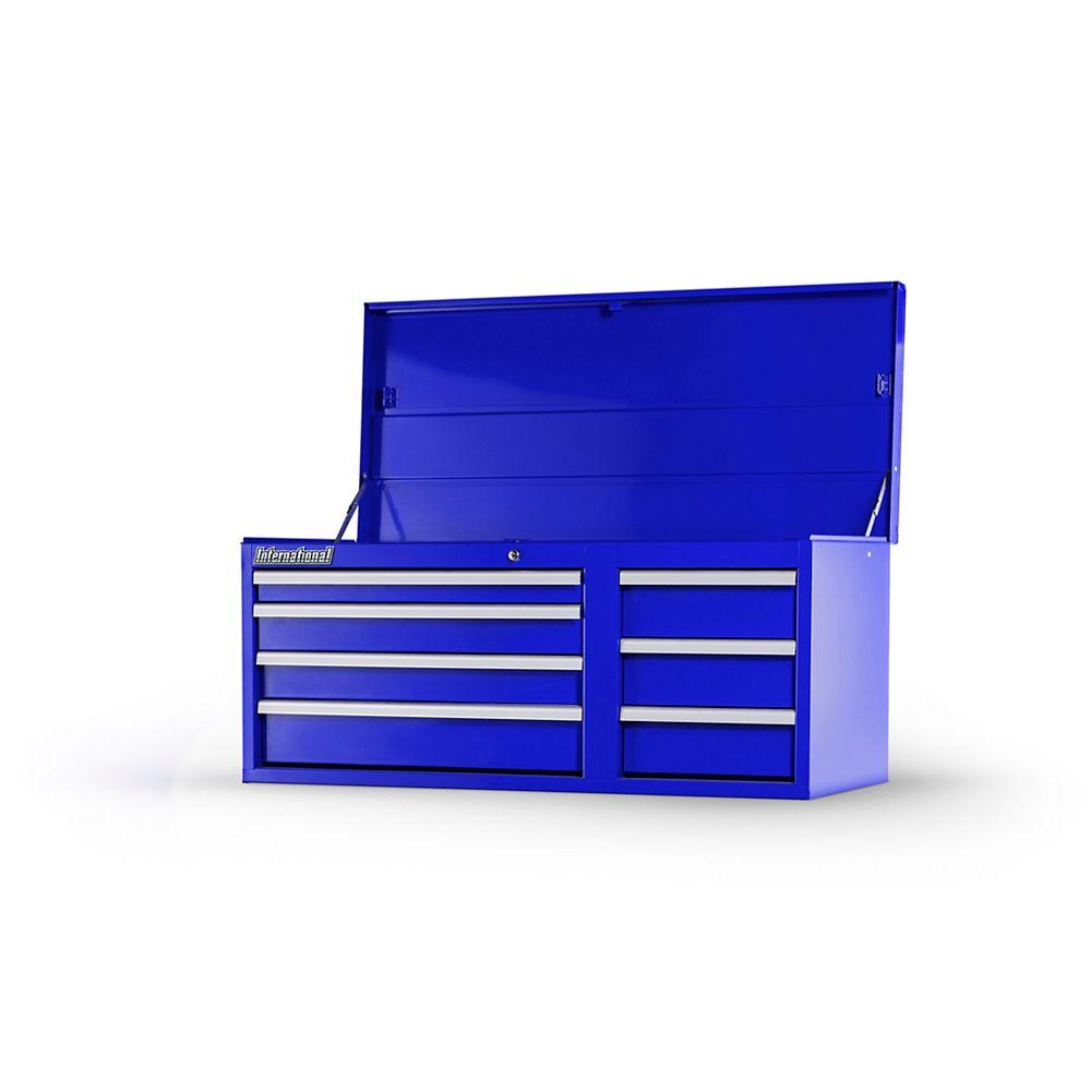 International 42-inch 7-Drawer Tool Storage Chest in Blue