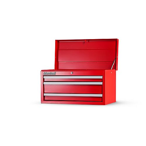 27-inch 3 Drawer Top Chest in Red