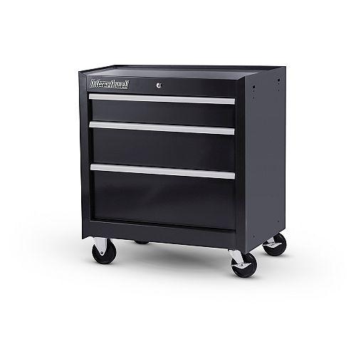 27-inch 3-Drawer Cabinet in Black