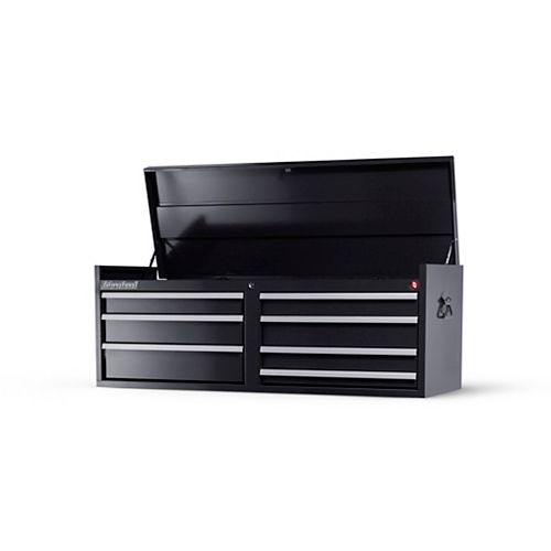 54-inch 7-Drawer Tool Storage Top Chest in Black