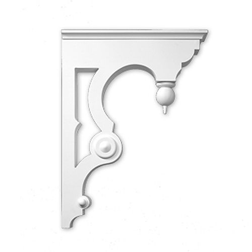 22-inch x 30-inch x 5 1/2-inch Primed Polyurethane Bracket Moulding