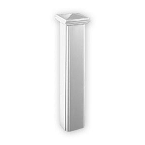 48-inch x 10-inch x 10-inch Polyurethane Corner Panel Newel Post Edge for 7-inch Balustrade System