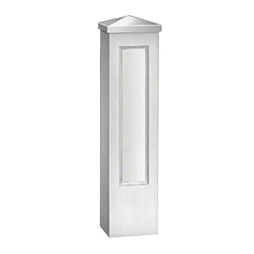 47 3/4-inch x 12 1/2-inch x 12 1/2-inch Primed Polyurethane Single Panel Newel Post