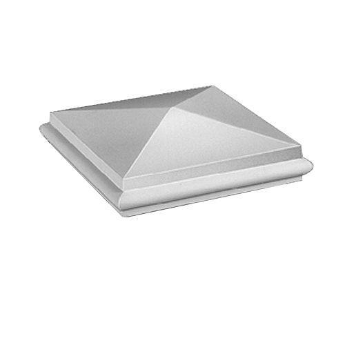 Capuchon de pilastre pointu élégant pour balustrade de 7 po en polyuréthane apprêté 2 po x 7-1/16 po x 7-1/16 po