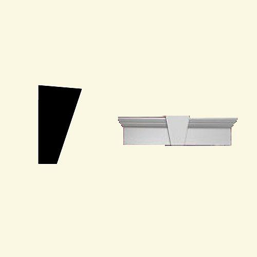 36 Inch x 11 Inch x 6 Inch Primed Polyurethane Window and Door Crosshead with Keystone