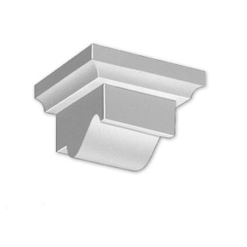 3 1/8-inch x 4 1/2-inch x 5 3/4-inch Primed Polyurethane Dentil Block