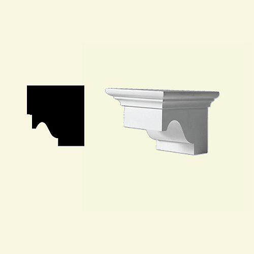 4 5/16-inch x 5-inch x 7 1/4-inch Primed Polyurethane Dentil Block