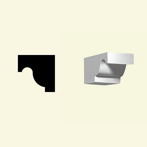 4 1/4-inch x 5 1/8-inch x 7 3/4-inch Primed Polyurethane Dentil Block