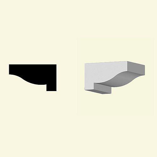 4-inch x 6-inch x 7 1/8-inch Primed Polyurethane Dentil Block