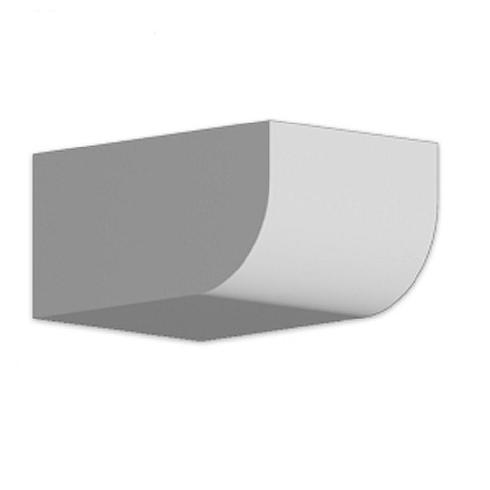 Fypon 4 1/4-inch x 6-inch x 8 3/4-inch Primed Polyurethane Dentil Block
