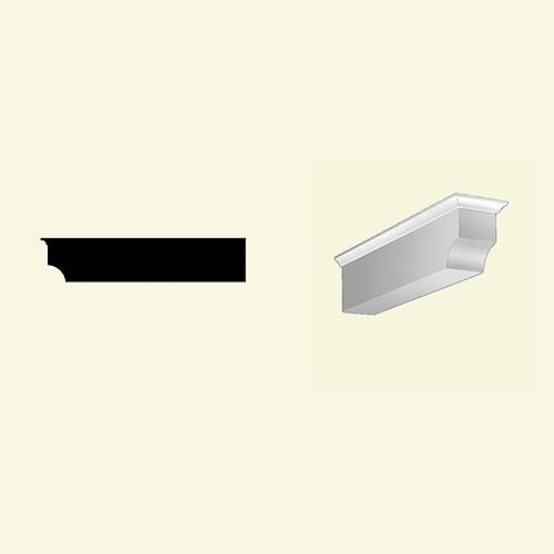 4 3/8-inch x 4 3/8-inch x 20 1/2-inch Primed Polyurethane Dentil Block